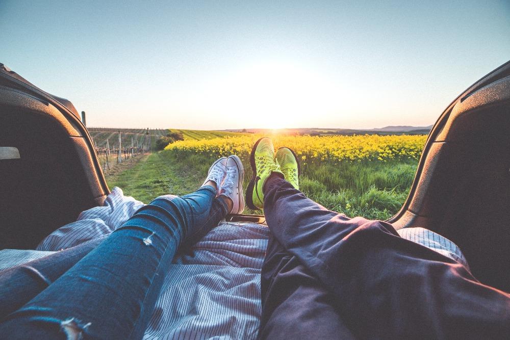 entspannen glücklich sein