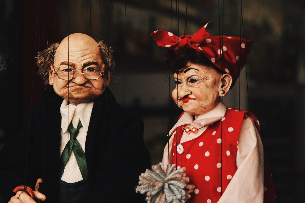 Puppen Großeltern