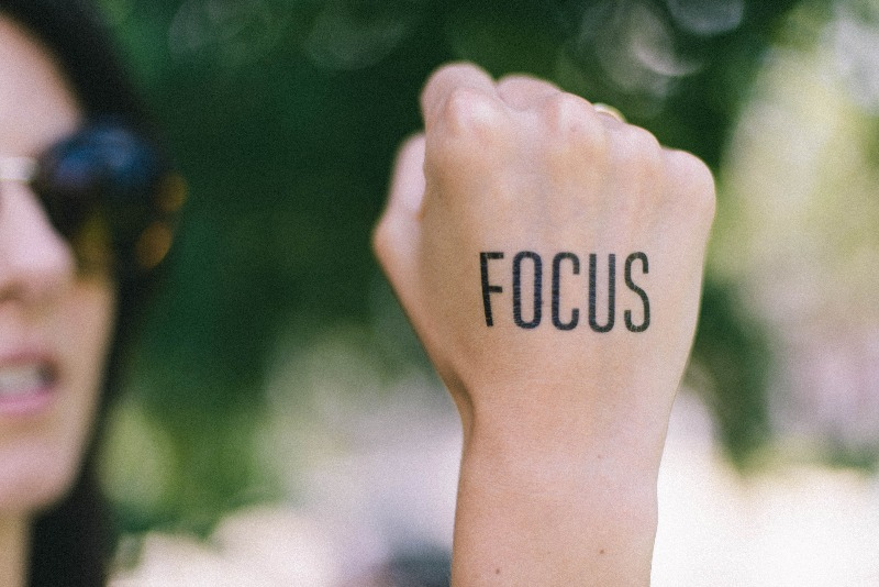 Entscheidung treffen Fokus